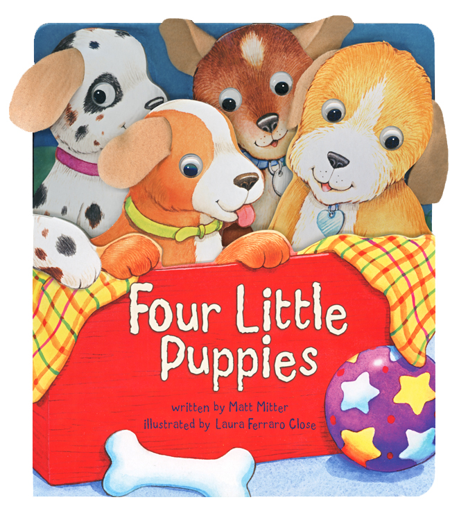 Four Little Puppies illustrated by Laura Ferraro Close