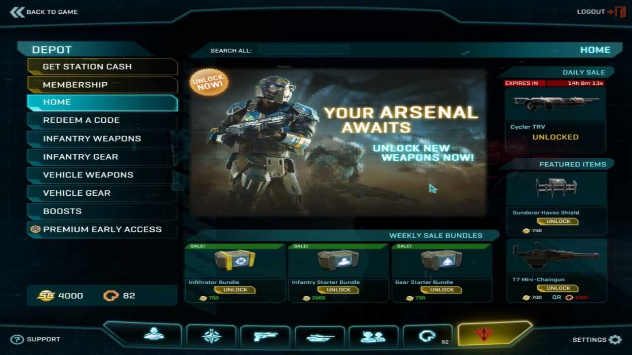 PC Store Interface