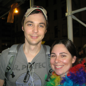 Celebrating NY Marriage Equality after a performance of  A Normal Heart  with Emmy Winner Jim Parsons.