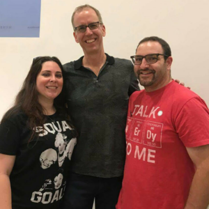 At a PostSecret event with founder Frank Warren and LGBT supporter and East LA College Professor Dr. Bryant Horowitz.