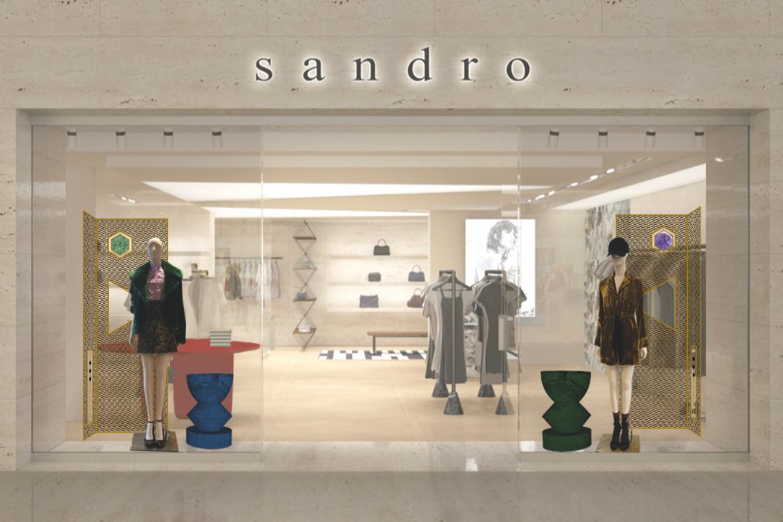 projet de vitrine Sandro