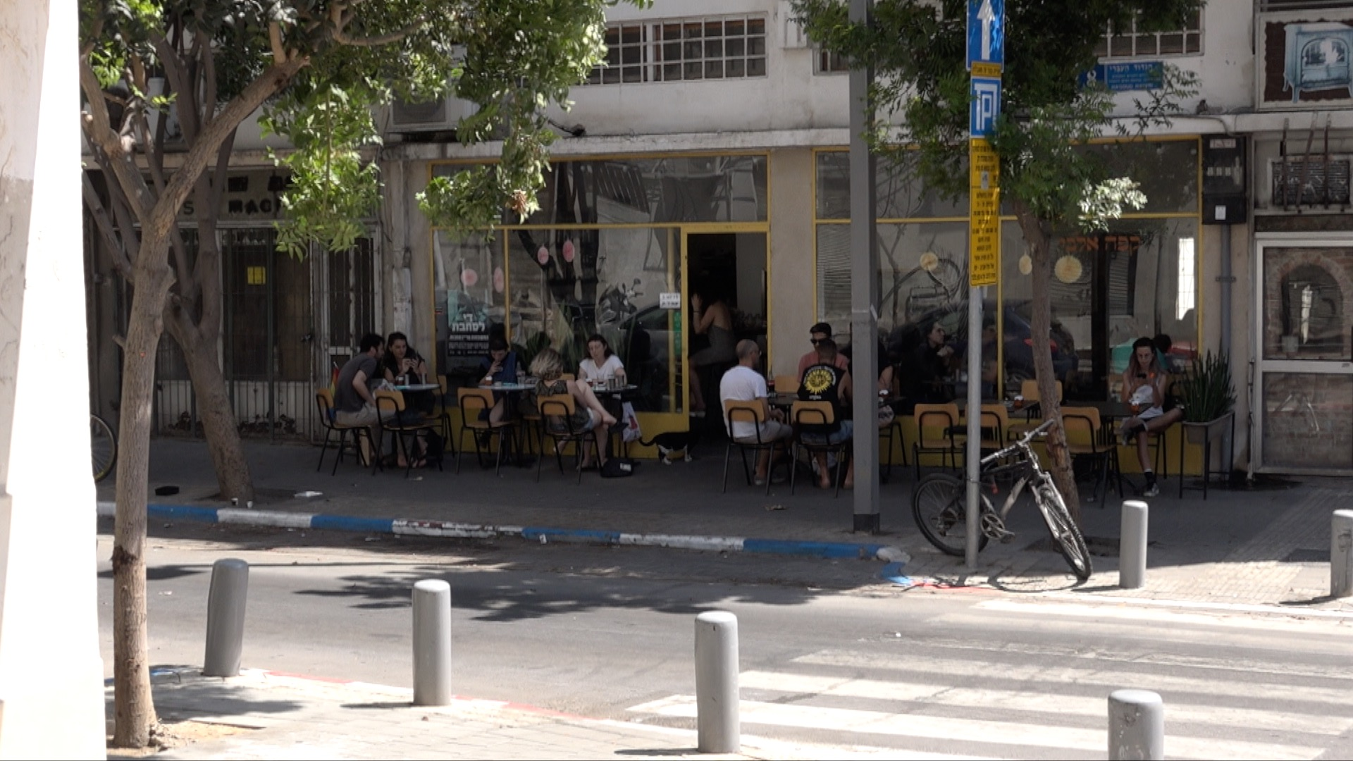 Front Café Albi on the threshold to the south of Tel Aviv