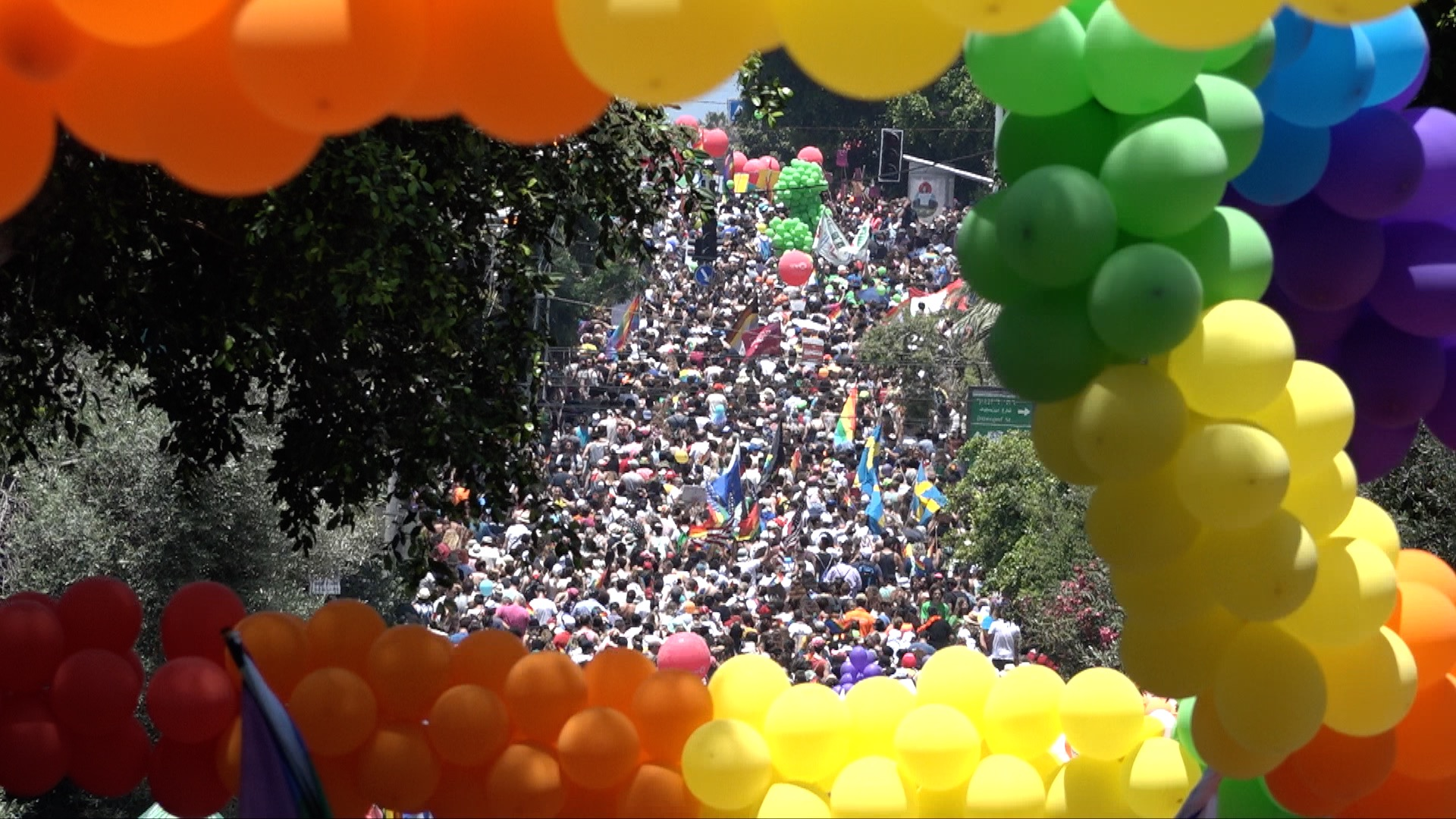 Total Shot of the GayPride Tel Aviv 2018