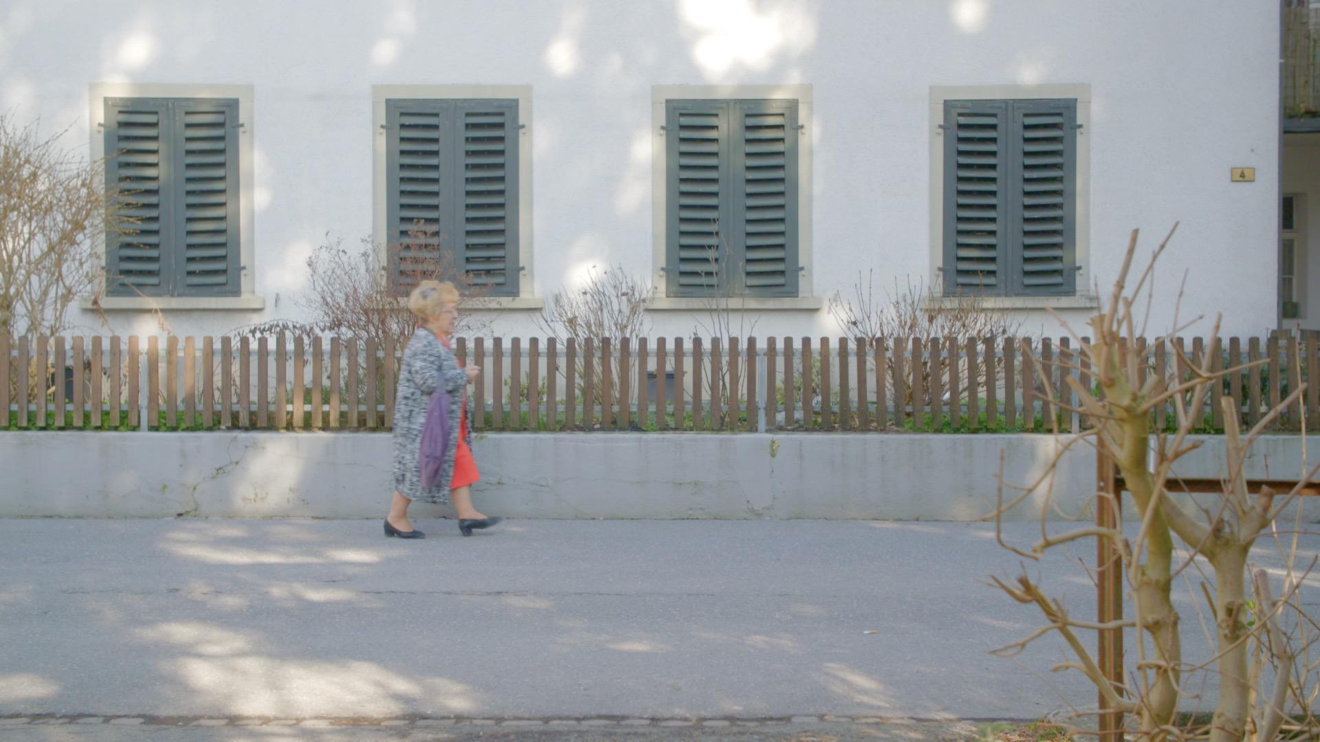 Olga on the way into the village