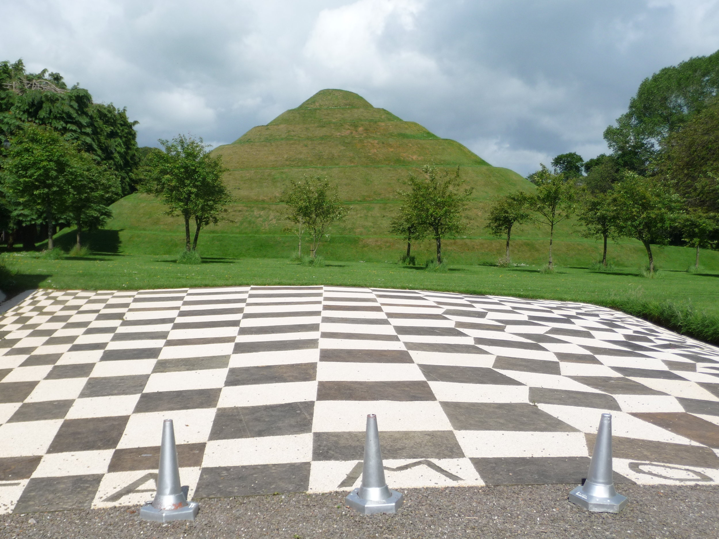 THE GLORIOUS GARDENS OF SCOTLAND by Karin Stanley  The Garden of Cosmic Speculation - created by Charles Jencks and Maggie Kewsick