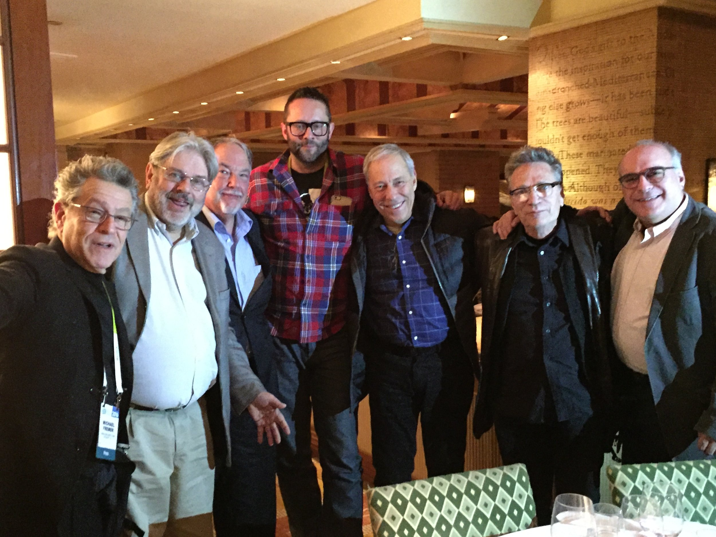 Michael Fremer, John Atkinson, Bill Leebens, John Darko, me, Herb Reichert and Ken Kessler