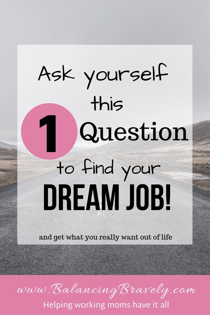 Ask yourself this one question to find your dream job