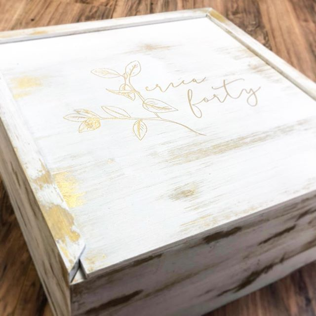 We've been gone for a while but we've been working hard....weddings, holidays, celebrations, etc...been busy creating amazing invites like these custom boxes for an birthday weekend invite 🎂