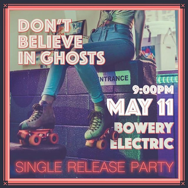 Brand new single 'The Chase' arrives Friday May 10th - come celebrate with us Saturday May 11th at the @theboweryelectric in New York City!! Get your tickets now - link in bio. #dontbelieveinghosts #singlereleaseparty #boweryelectric #nyc #newyorkcity #newmusic #comingsoon #alternative #indie #pop #spotify
