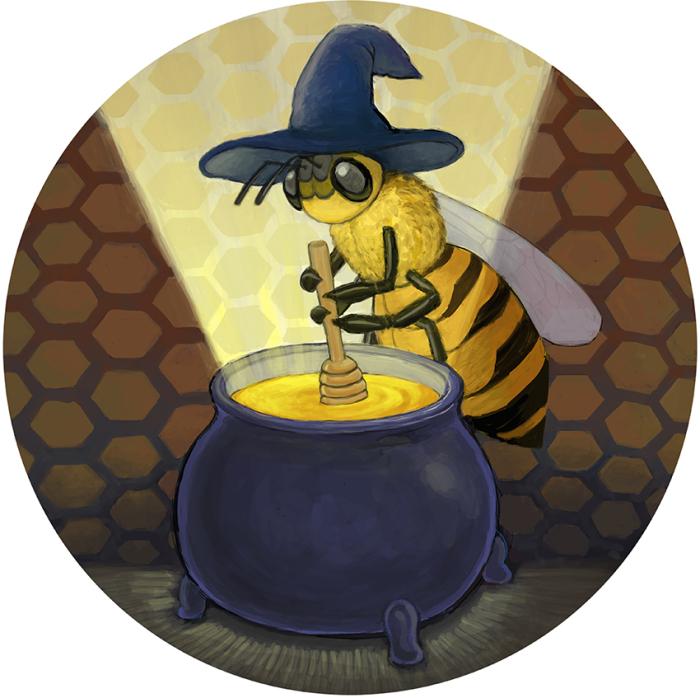 Bee Alchemy (Label Art)