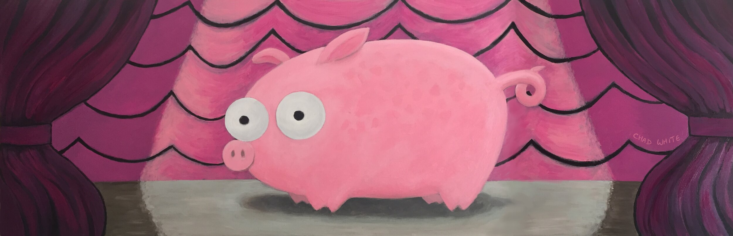 Pig and Curtains