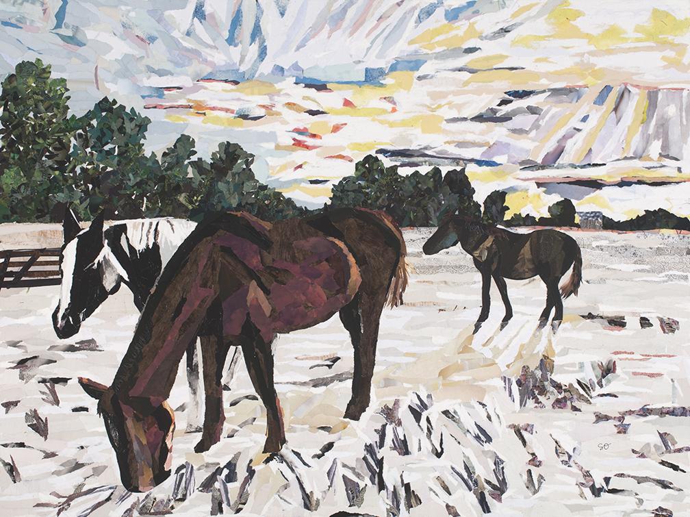 Three Horses and a Big Sky