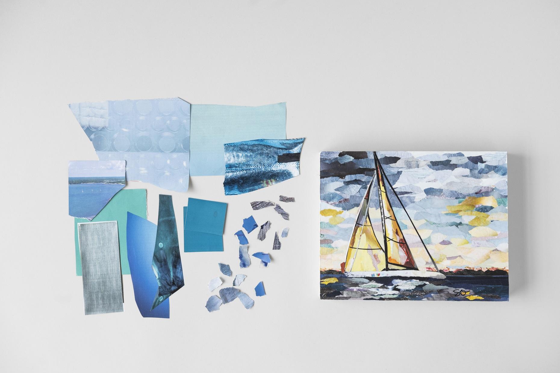 "NBC/Universal Bluprint ""Paint with Paper: Impressionist Collage"" - http://shrsl.com/1pkwo"