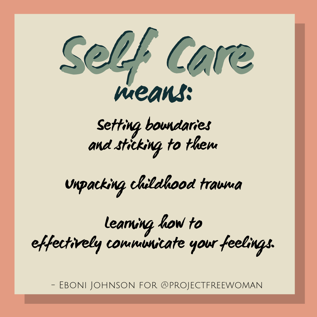 Self Care Means