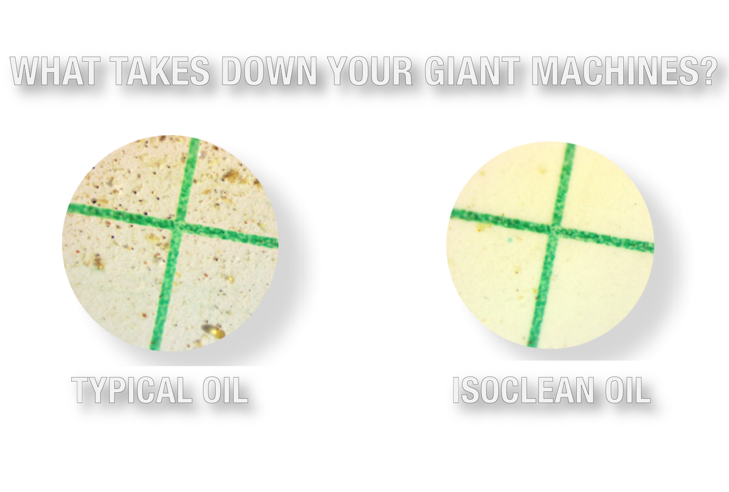 Typical Oil vs ISOCLEAN Oil