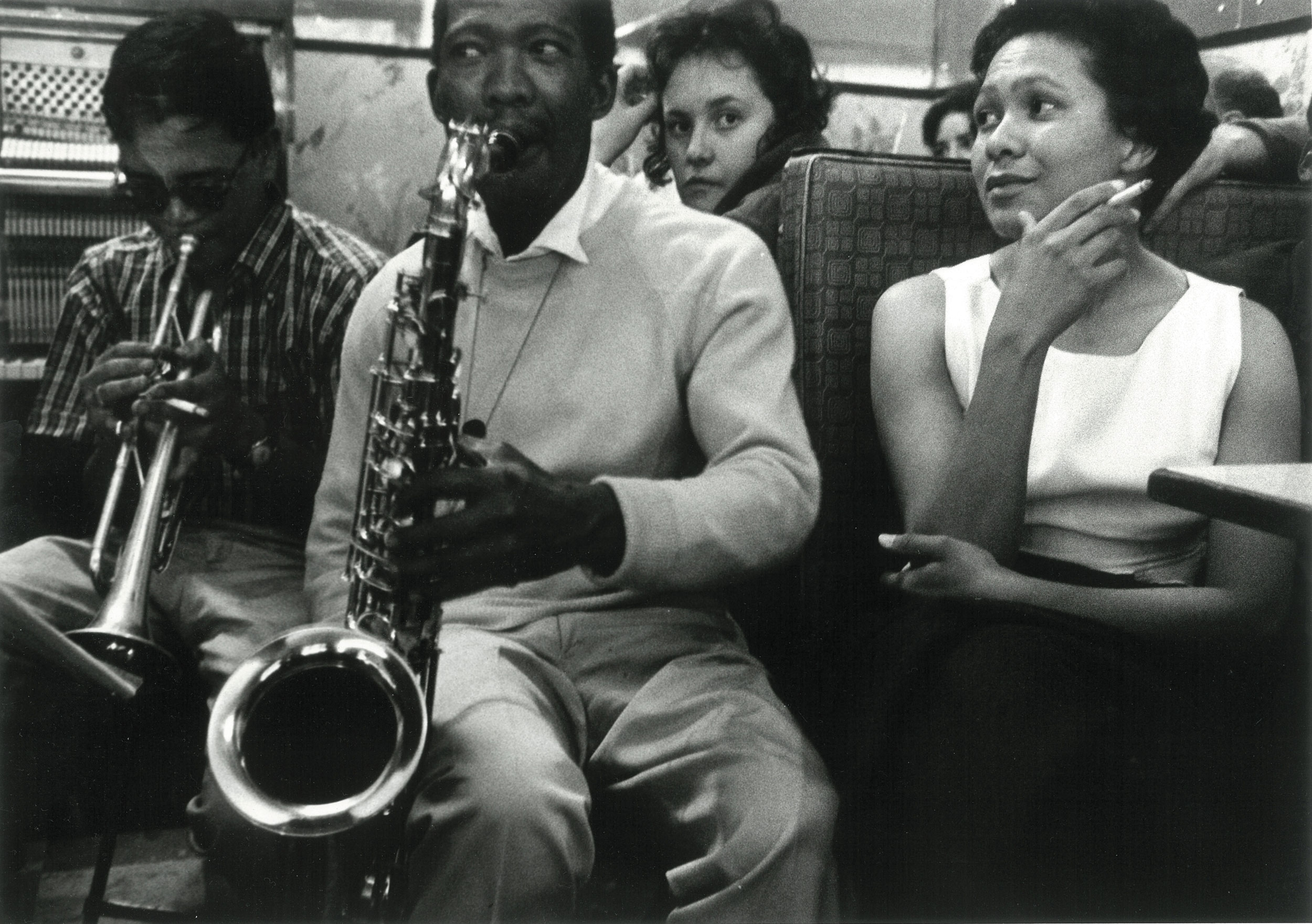 1958 – Lennie Lee and Kippie Moeketsi   Courtesy of the Estate of John Goldblatt