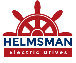 Helmsman Electric Drives logo - Steering your marine Electric Drive installation right