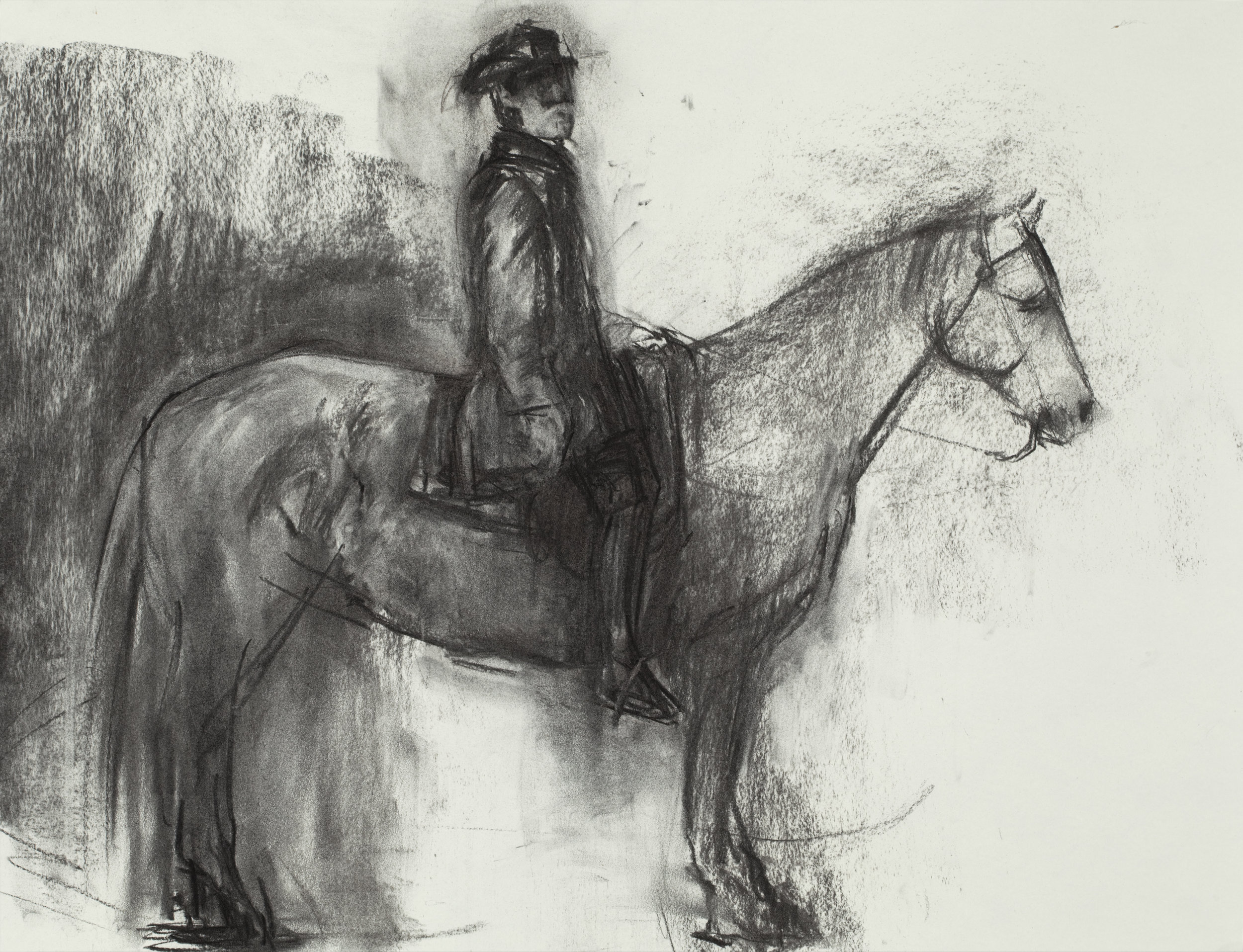 """Lee and Traveller  Charcoal on Paper (18 x 24"""")"""