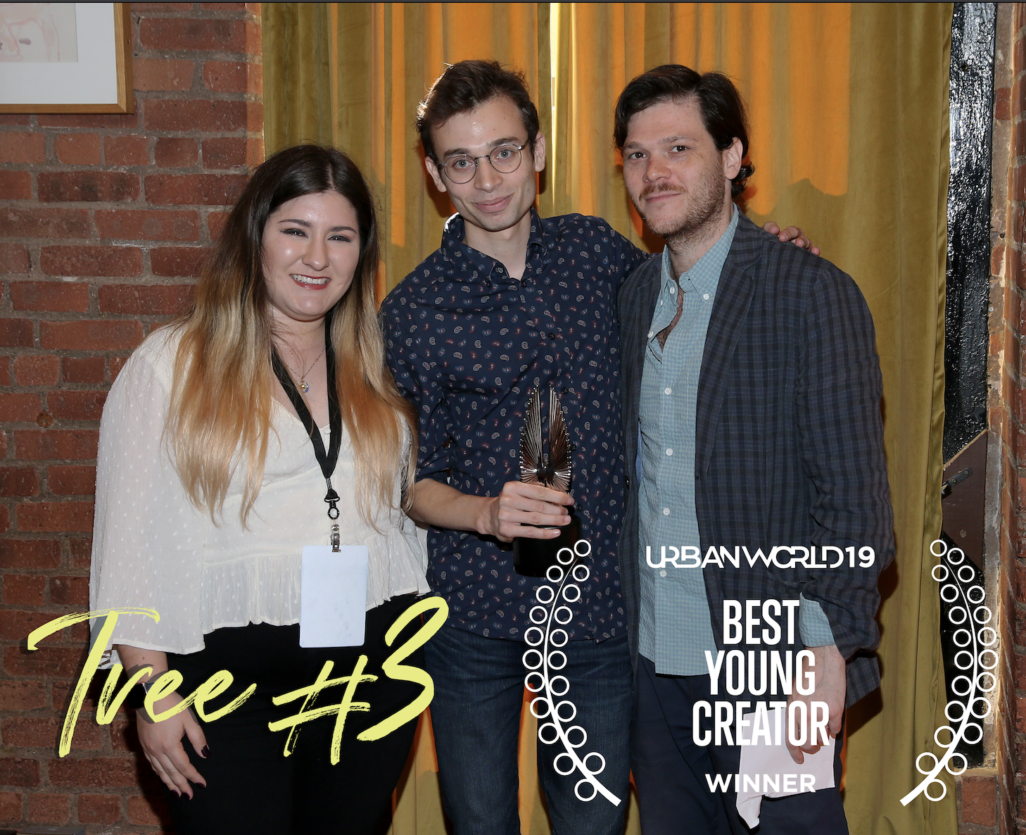 From left to right, Production Designer Katia Nájera, Director Omer Ben-Shachar, and Matthew Thurm.