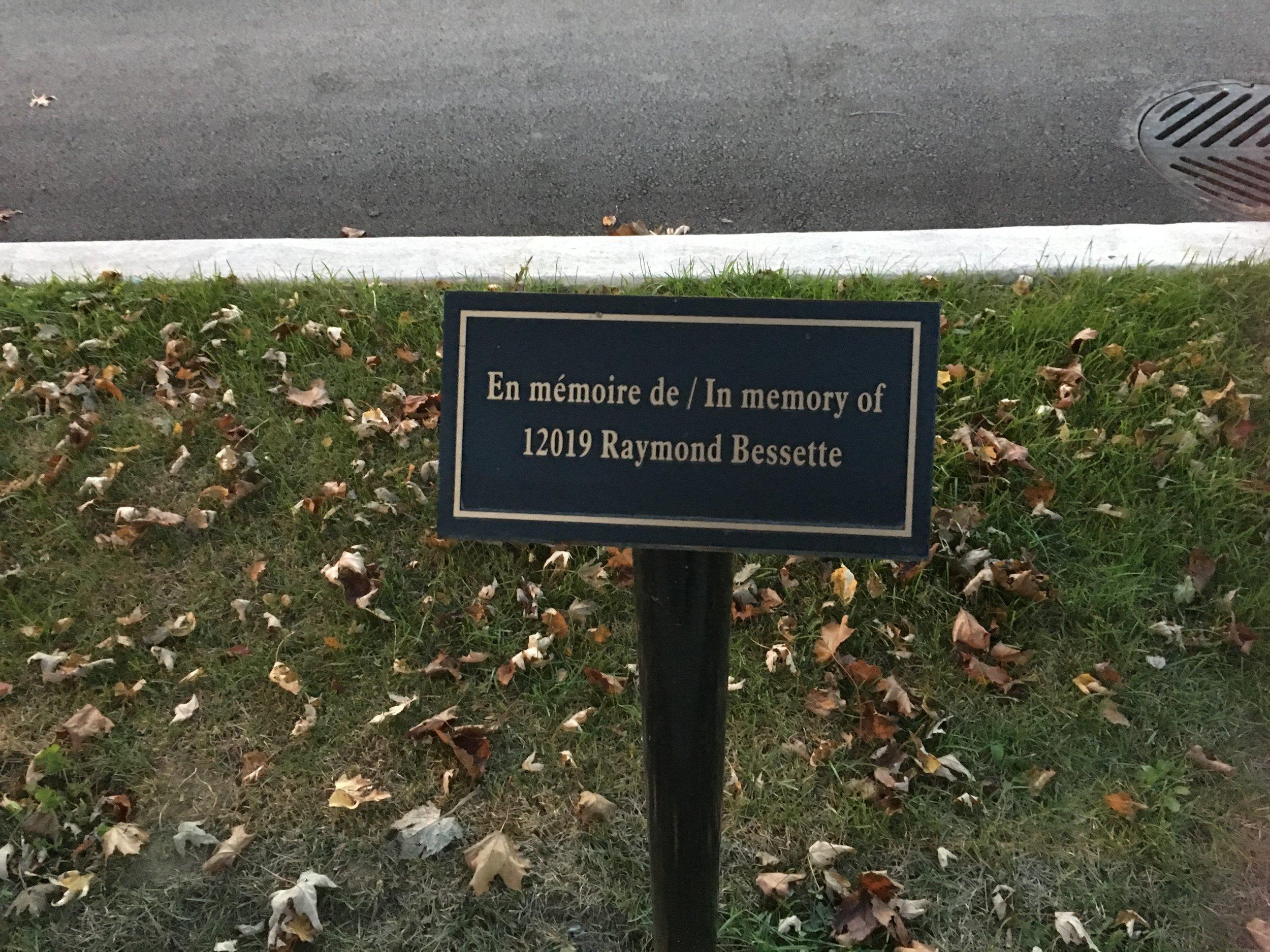 In Memoriam Bessette Plaque.JPG