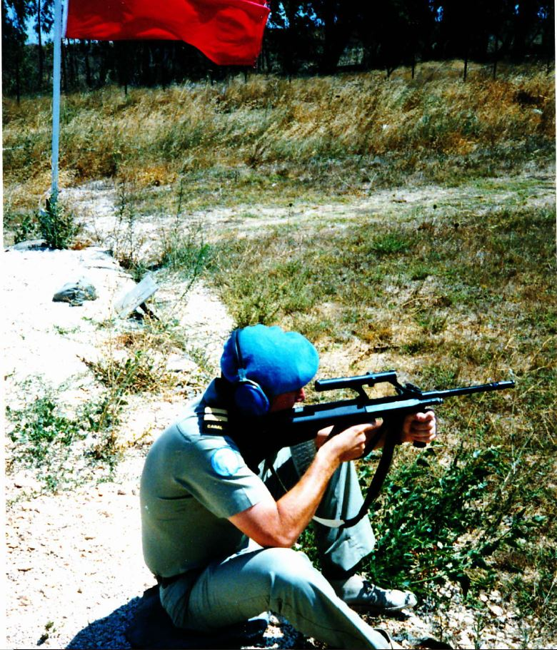 on the range with one of the austrian weapons