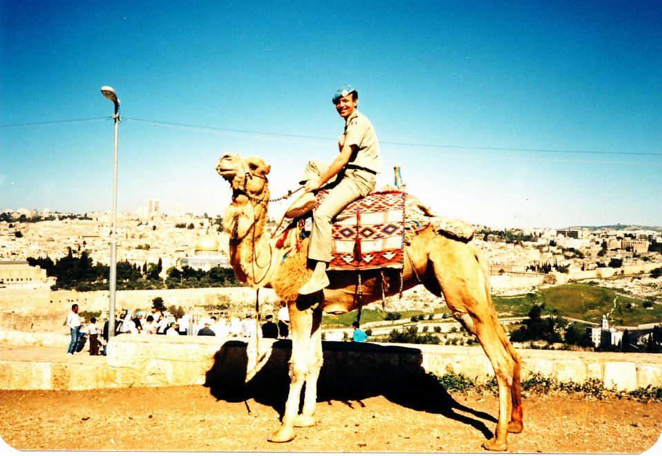 on the mount of lives overlooking jerusalem including the dome of the rock. sky was always unbelievably blue