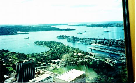 """the first gulf war had started just before the tour ended, so when I flew """"around the world"""" to get back to canada, i stopped in sydney and from the tower restaurant was able to see the australian navy preparing to deploy."""