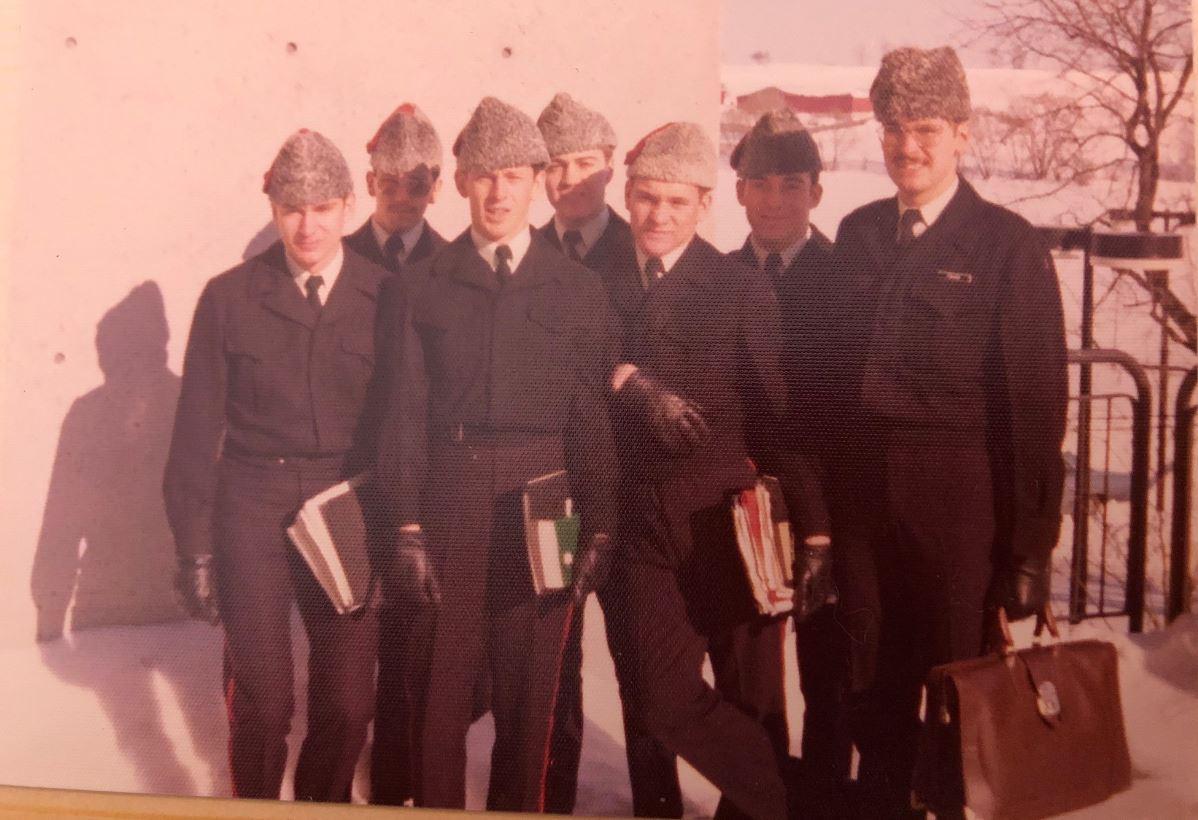 Left to right: john moore; dan eustace; sid allison; pete barber; rob maccormack; dave marshall; marc fraser