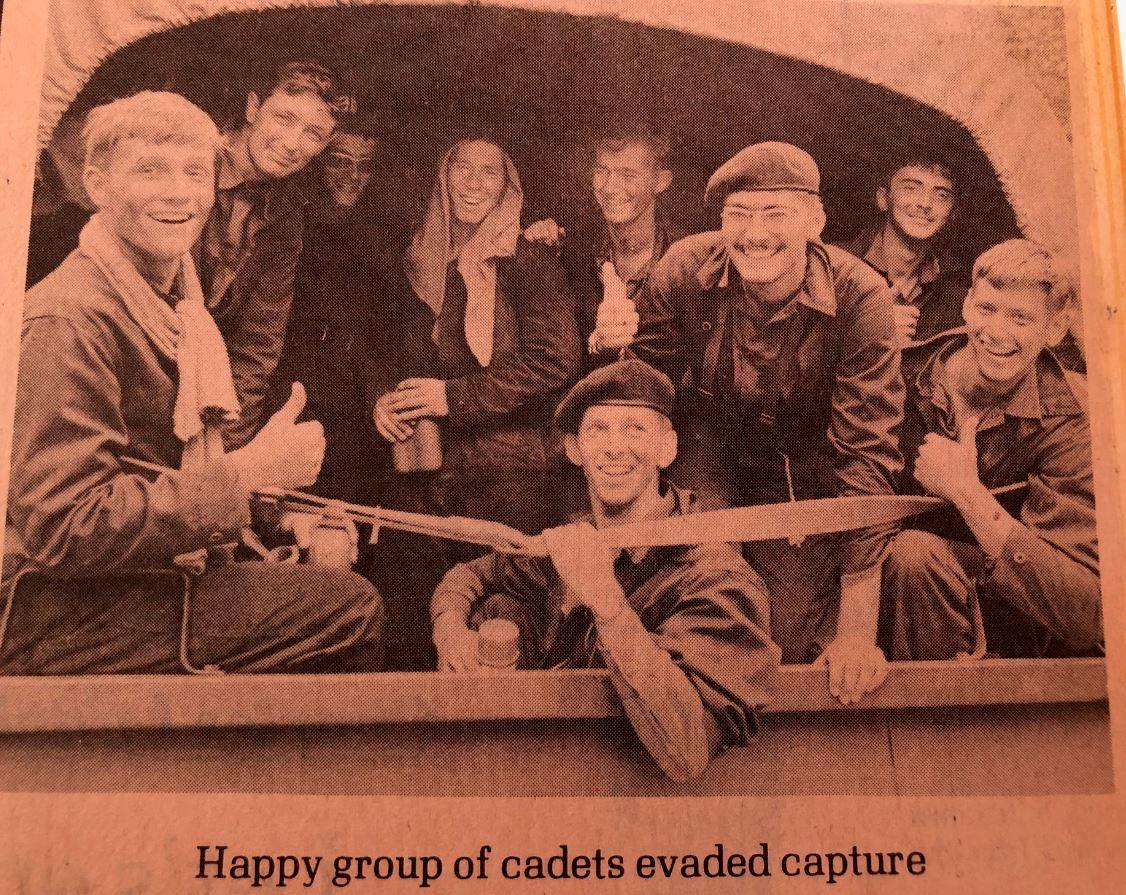 back row: ???; jim kightly; glen long; mark sellars; andy main  front row; ???; sid allison; marc fraser; bob fehr
