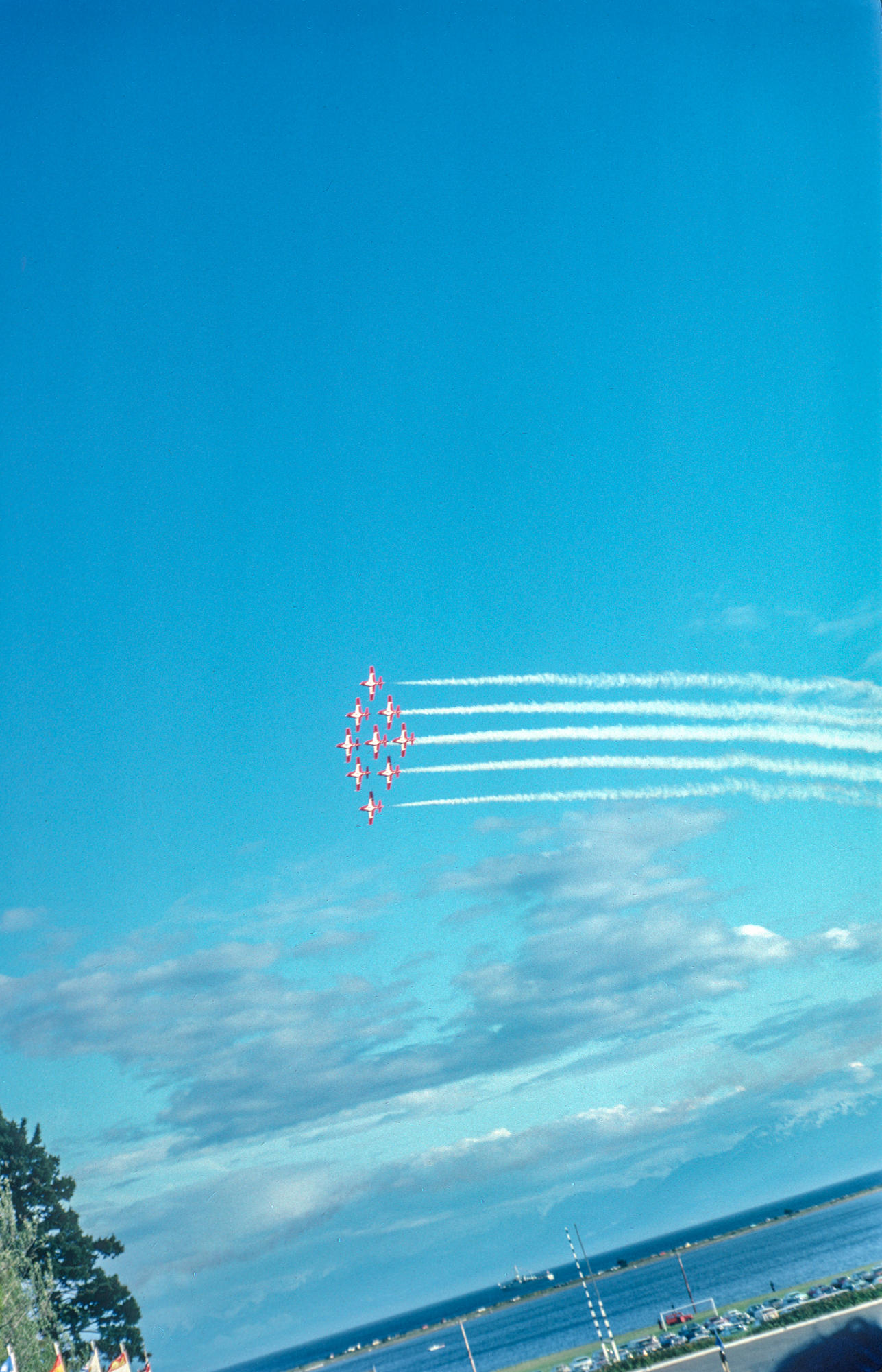 flypast by the snowbirds