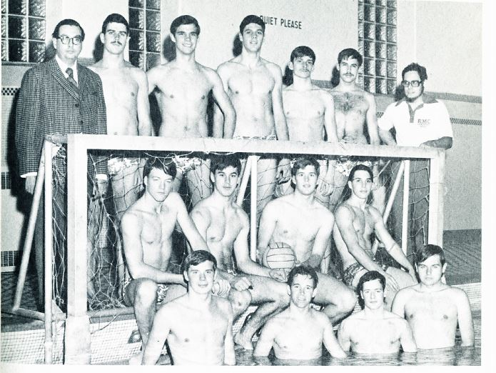 Mr Watt, in addition to being the assistant librarian volunteered for many other duties with the cadets including the water polo team coach and staff rep on the review (yearbook)
