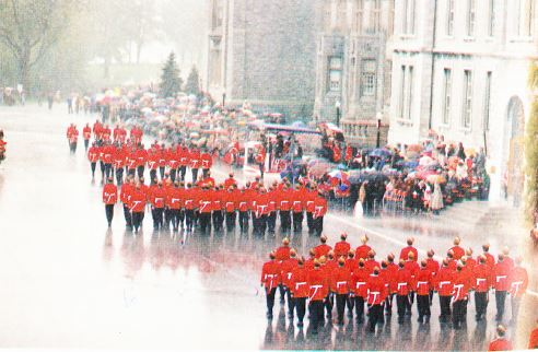 Graduation March Past in the Rain.JPG