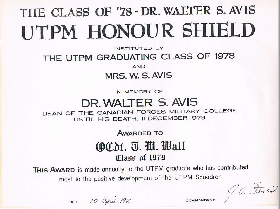 RMC UTPM Honour Shield Wall Certificate.JPG