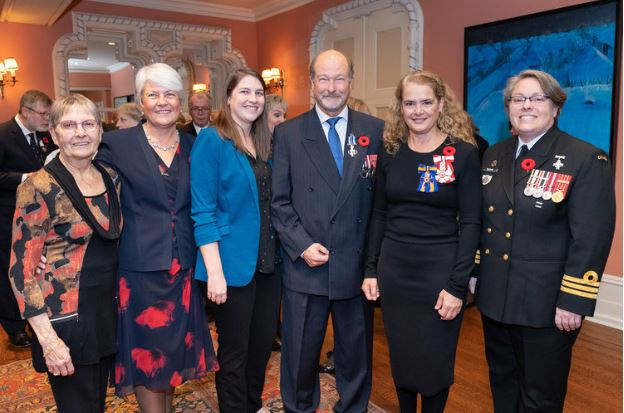 Carmen gimblett (mother); muriel (wife); beth (daughter); rich; governor general julie payette; cdr ramona burke