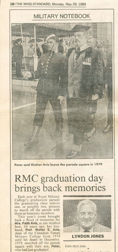 RMC Grad Parade Whig Article Pete Dr Avis 1.JPG