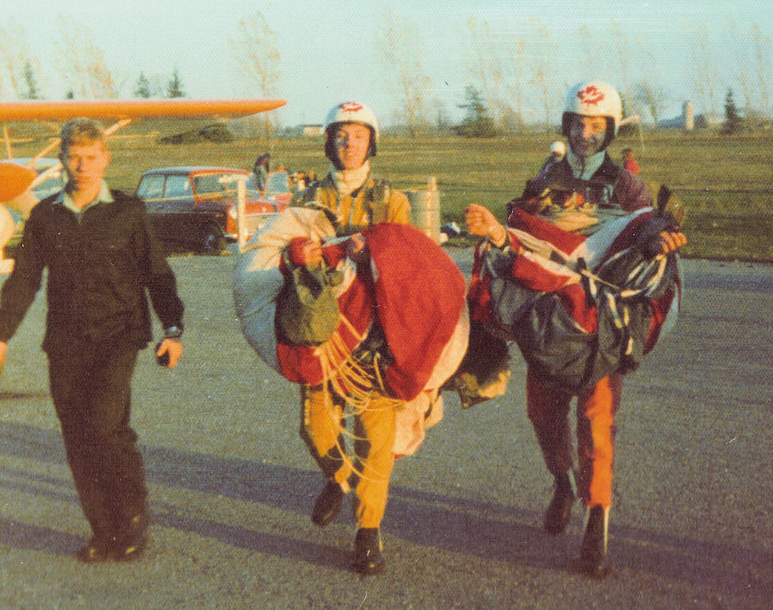 first parachute jump - with mark beaulieu, escorted by terry wood