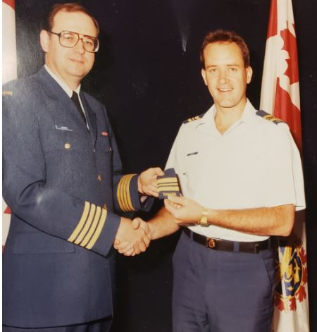 ray, with col pierre lAGEUX - getting promoted the first time when he was 30. he liked it so much he decided to do it again 20 years later