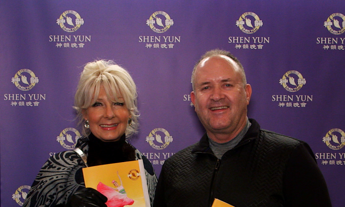 manja and ray being interviewed at shen yun show