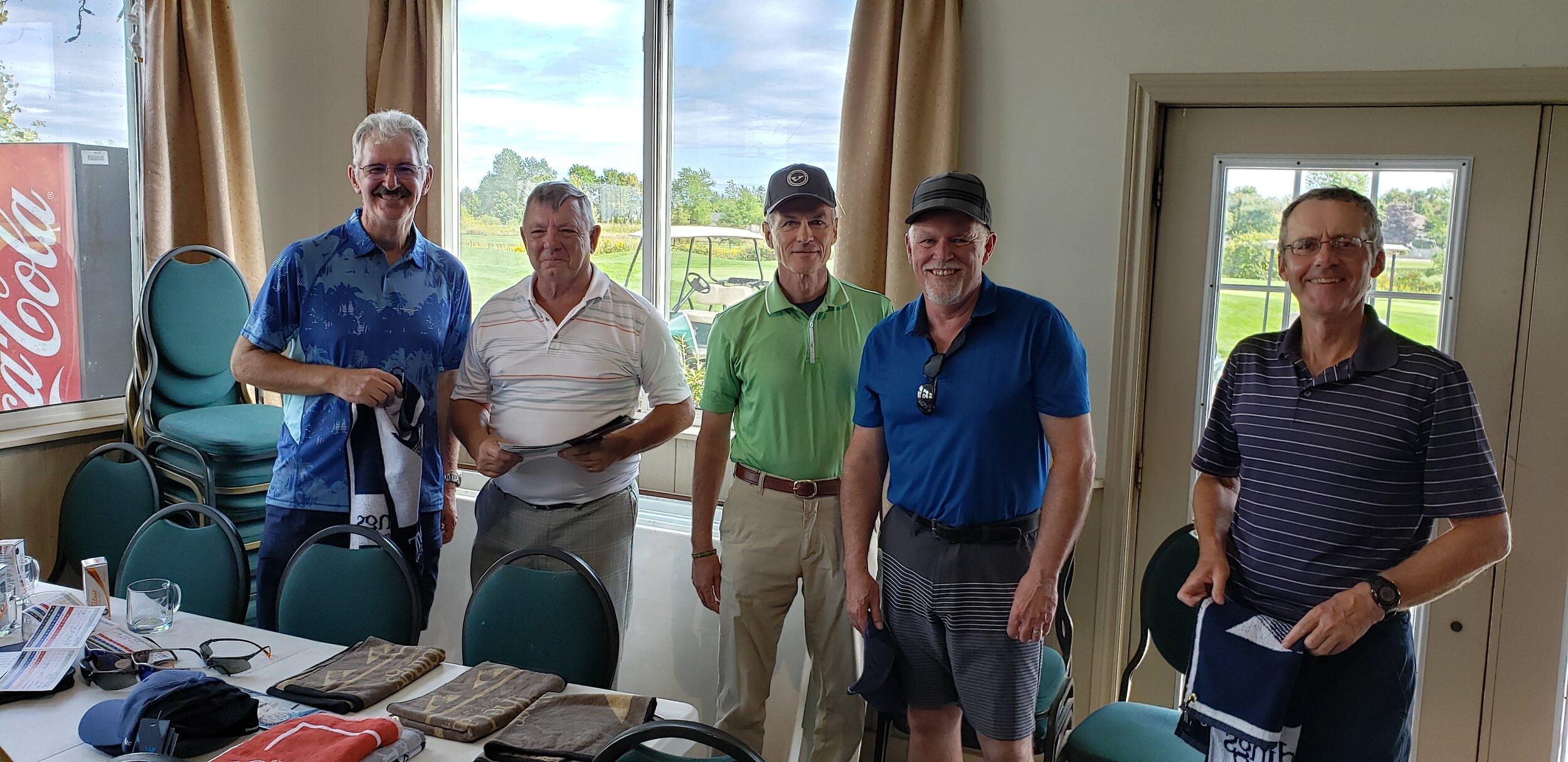 third - gary bruce, john dixon, chuck attwood and gerry vienneau … and larry