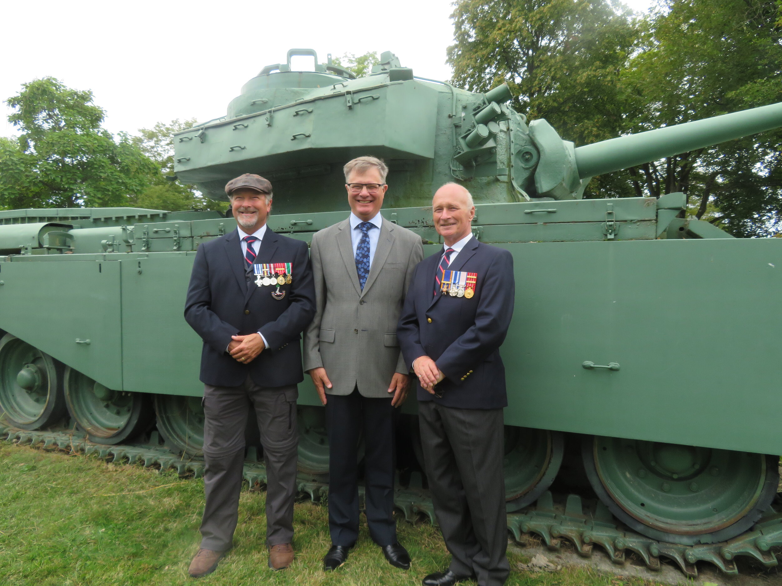 the navy contingent by that tank … the two richards and ian yeates