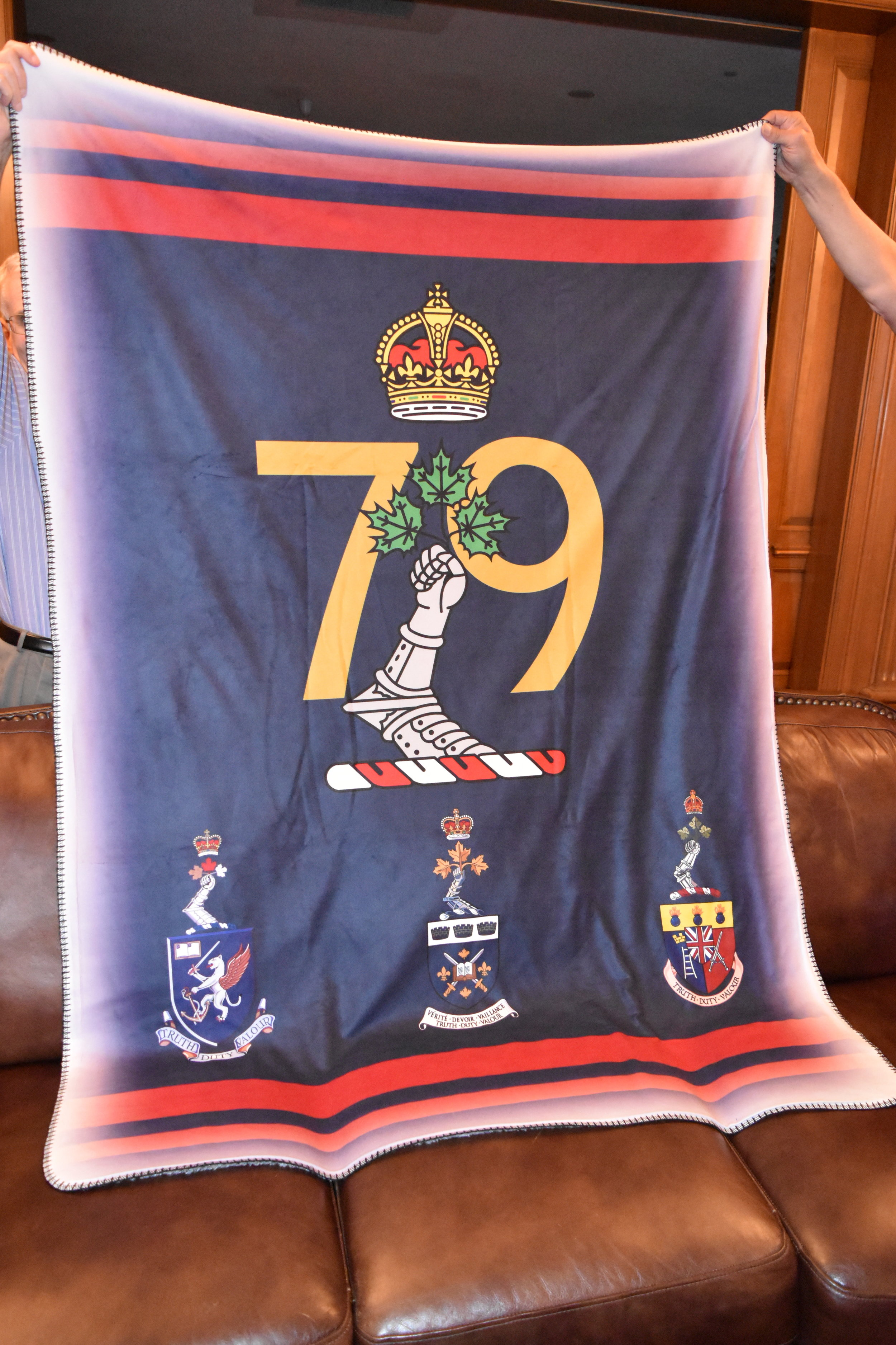blanket courtesy of scotty mills - turned out really well especially the crests