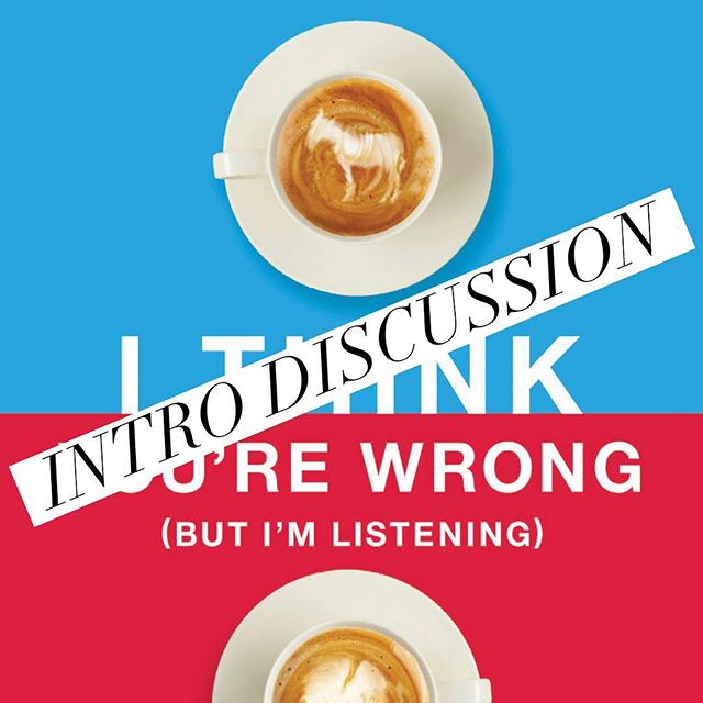 Join our Book Club! Hop on Facebook for our discussion of various political books. First up -I Think You're Wrong (But I'm Listening). https://m.facebook.com/groups/1892207870906204