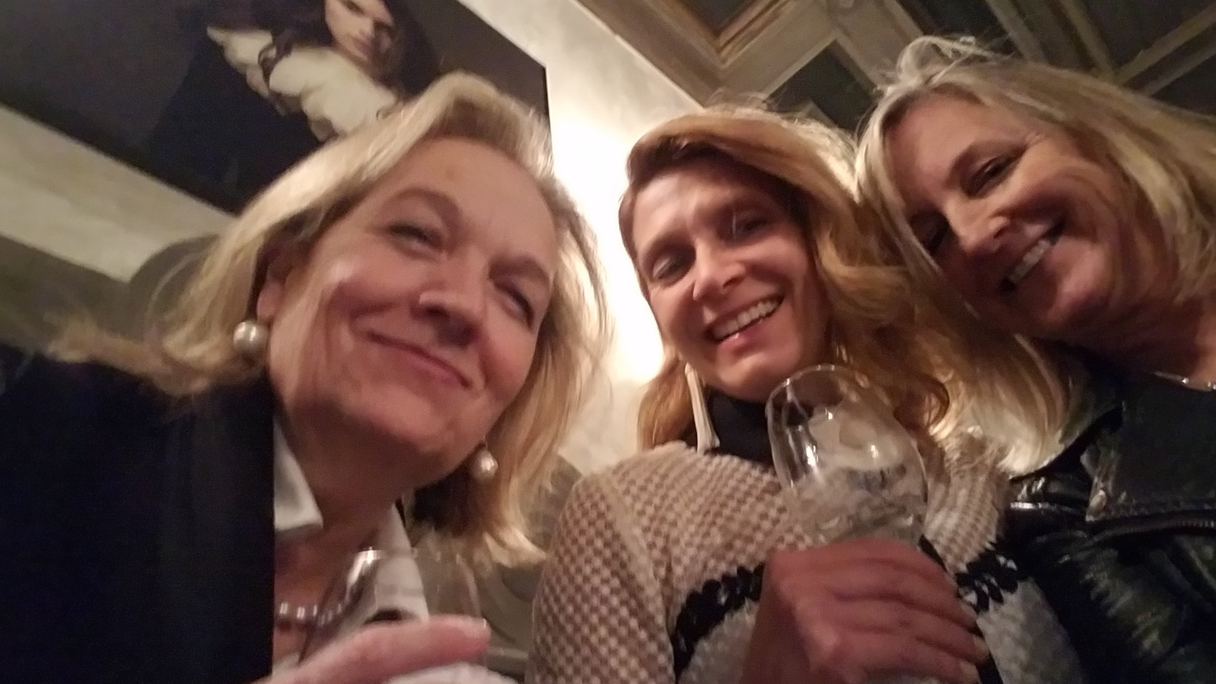 Amazing women: Caroline Hipple of  Norwalk Furniture  Jana Phipps, and moi.