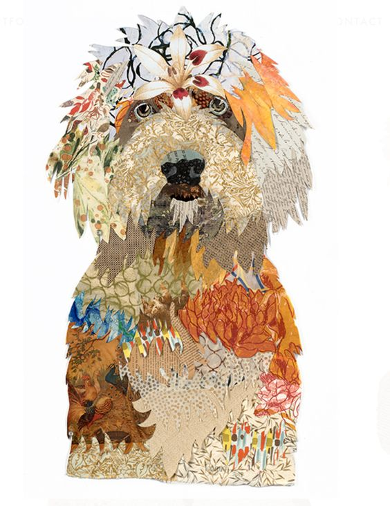 pet portrait brenda bogart art blue printBrenda Bogart Goldendoodle Art, Collage ....jpg
