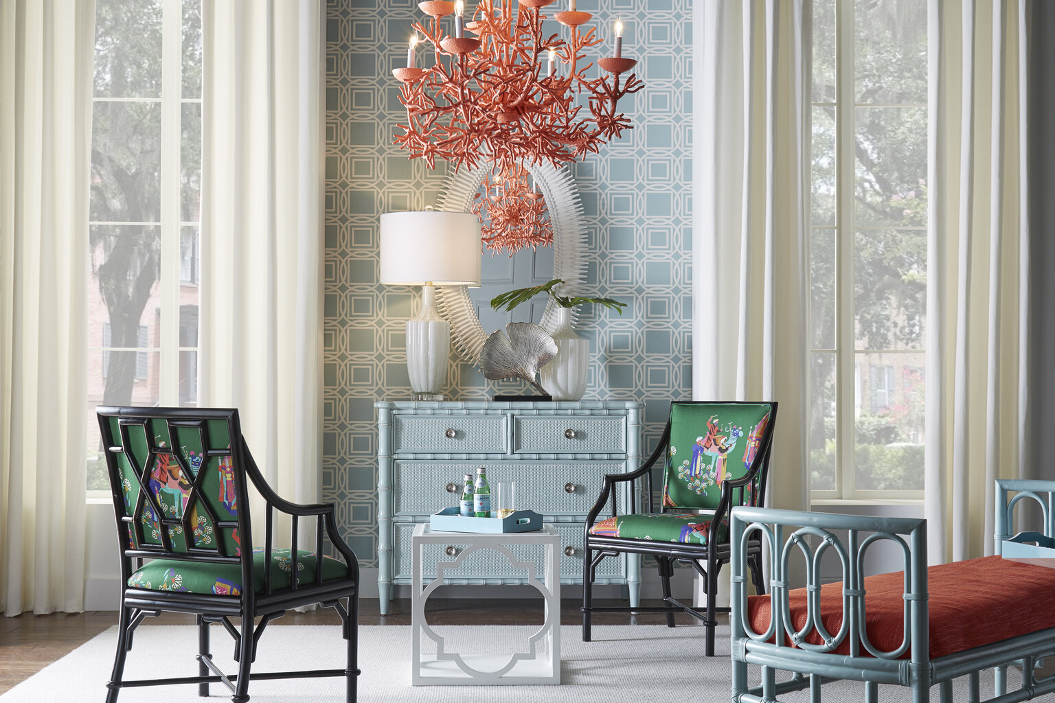 Just love this Sea Breeze Chandelier via WoodlandHome.com . To the Trade