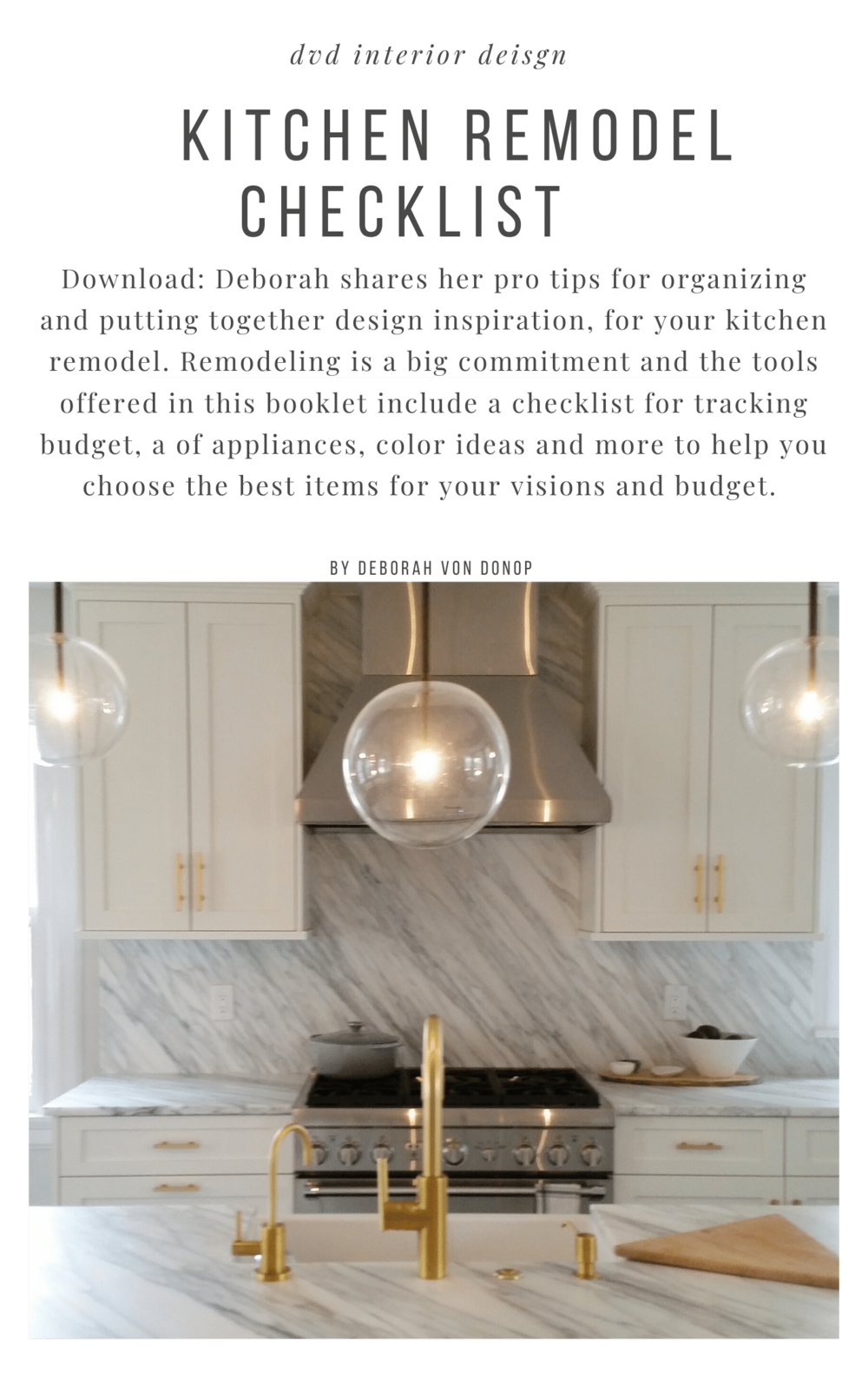 Kitchen Remodel Project Guide Downloadable Checklist Dvd Interior Design