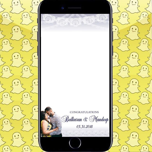 Congratulations to Balkaran & Mandeep on their wedding! Here is a filter we created to be live tomorrow in Surrey, B.C. ☺️ ________________________________________________________