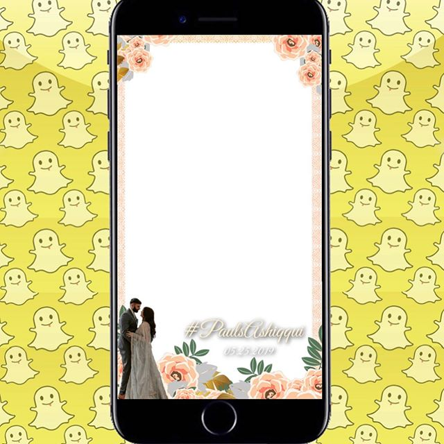 Here is a custom floral themed filter we created for Paul & Ash this weekend for their wedding. This will be live in Sacramento, CA! ☺️ ________________________________________________________