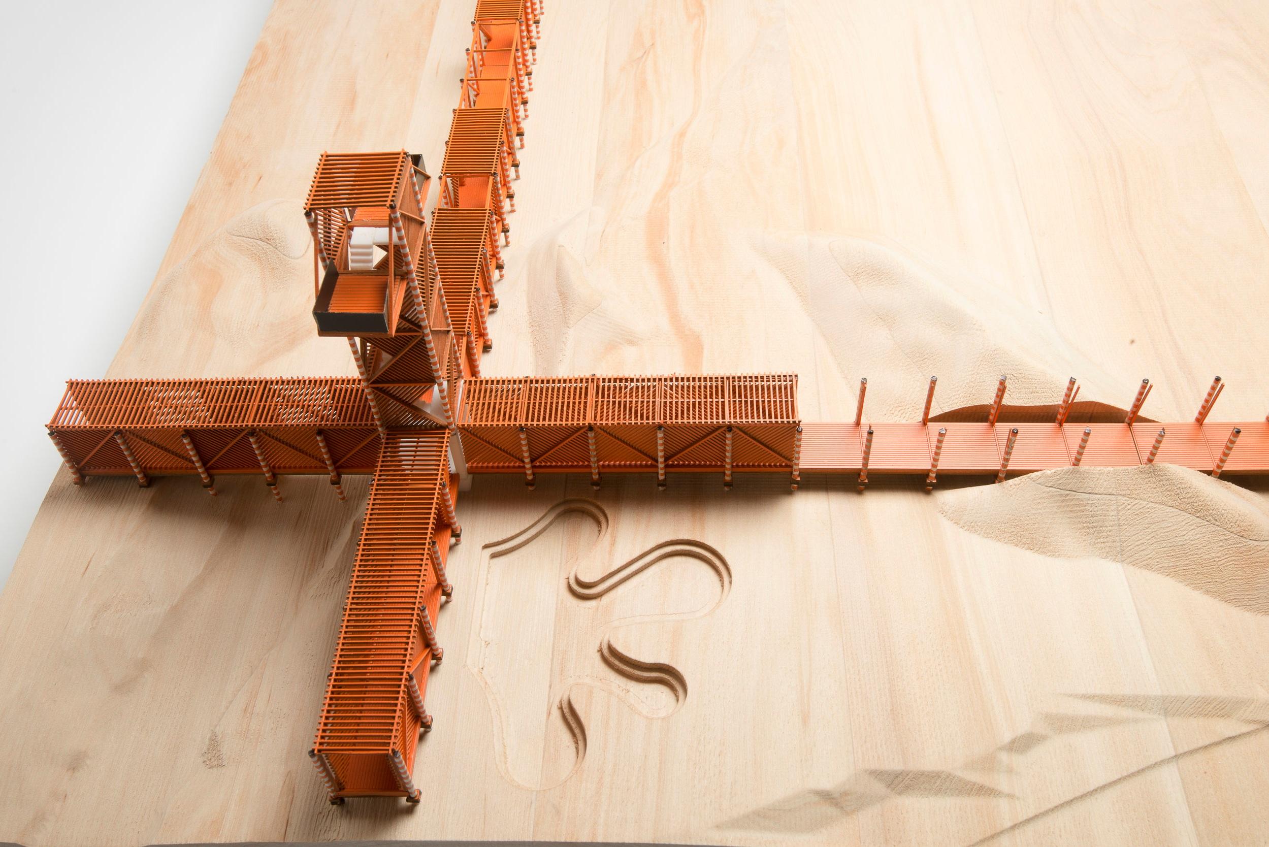 Open Work in Progress: - Kapiti Watchtower by the Wellington team of Sam Kebbell, Cam Wilson, Riley Adams-Winch, Callum Leslie, Andrew Charleson and Martin Bryant