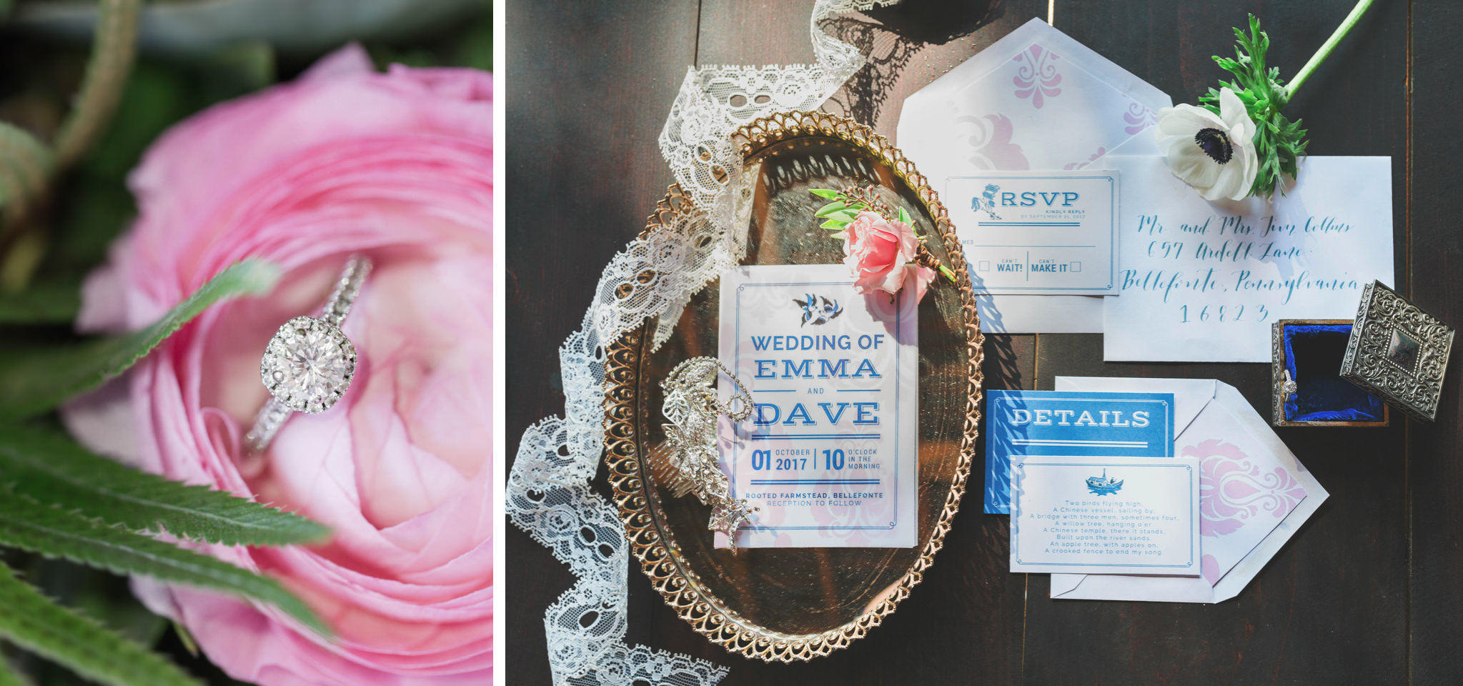 State College Bellefonte Pennsylvania wedding photographer cotton china blue blush barn (4).jpg